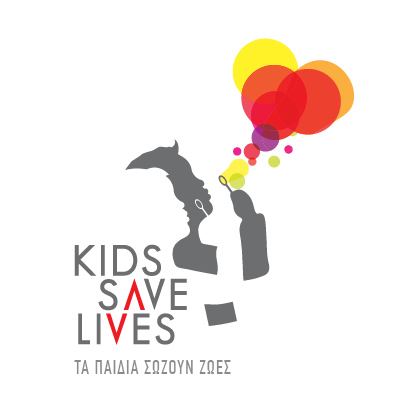 Kids Save Lives Logo in Map